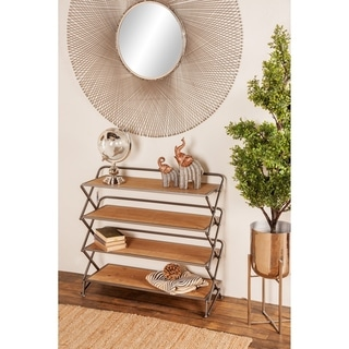 Farmhouse 30 x 34 Inch Foldable Four-Tiered Shelf by Studio 350
