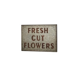 Farmhouse 19 x 27 Inch Fresh Cut Flowers Plate Wall Decor