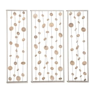 Link to Set of 3 Contemporary 32 Inch Iron Framed Abstract Wall Decor Similar Items in Wall Sculptures