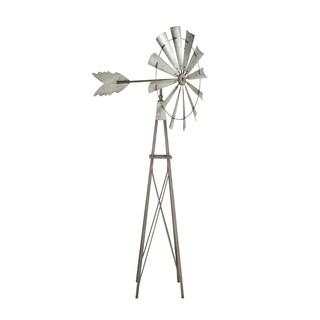 Farmhouse 85 x 32 Inch Iron Garden Windmill