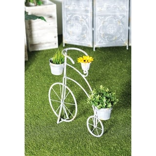 Rustic 26 x 27 Inch Penny-Farthing Bicycle Metal Planter by Studio 350