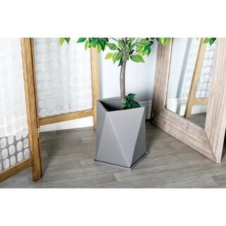 "Modern Geometric Slate Gray Ceramic Indoor & Outdoor Planter 12"" x 13"""