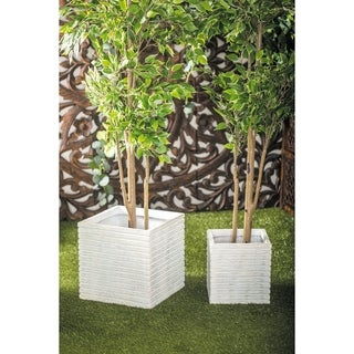 Set of 3 Farmhouse 11, 14, and 18 Inch Square Planters by Studio 350