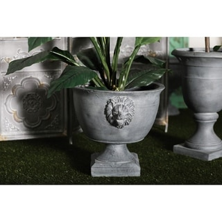 Farmhouse 18 x 20 Inch Urn-Shaped Gray Planter by Studio 350