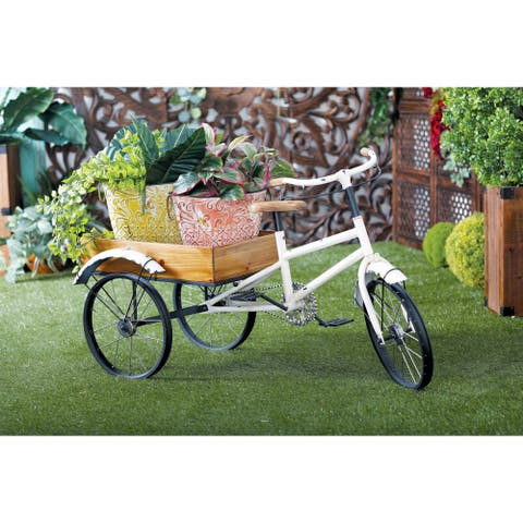 Farmhouse 24 x 48 Inch Tricycle Cart Metal Planter by Studio 350