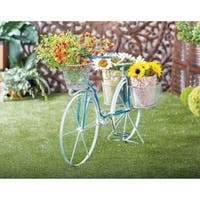 Farmhouse 28 x 50 Inch Iron and Aluminum Bicycle Planter by Studio 350