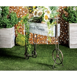 Farmhouse 34 x 42 Inch Iron and Aluminum Bicycle Planter by Studio 350