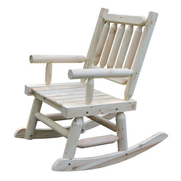 Shop Wooden Rocking Chair With Natural Material Comfortable