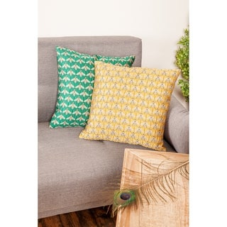 Modern 17 x 17 Inch Mustard Yellow Pillowcase