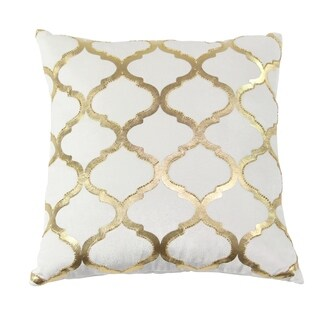 Modern 17 x 17 Inch Square White Cushion Cover