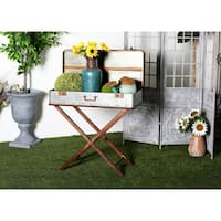 Rustic 32 x 32 Inch Iron Box On Stand
