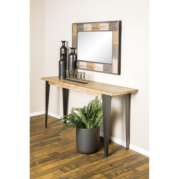 Shop Rustic 31 X 68 Inch Brown Wood And Iron Console Table By Studio