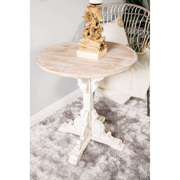 Astonishing Shop Traditional 30 X 26 Inch Round Wood Accent Table On Gmtry Best Dining Table And Chair Ideas Images Gmtryco