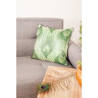 Modern 17 x 17 Inch Square Green Pillowcase