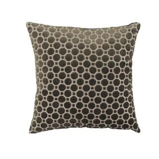 Modern 17 x 17 Inch Black Pillowcase with Geometric Patterns