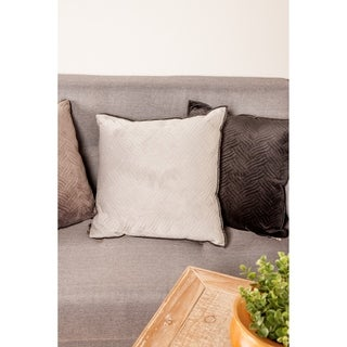 Modern 17 x 17 Inch Gray Pillowcase with Triple Wavy Lines Designs