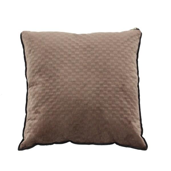 Brown Modern 17 x 17-inch Brown Pillowcase