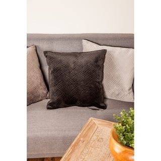 Modern Black Pillow with Triple Wavy Lines Designs by Studio 350
