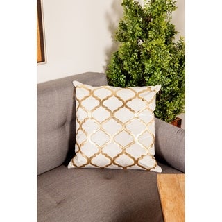 Modern 20 x 20 Inch Accent Pillow with Velvet Foil Print by Studio 350