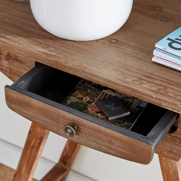 X 36 Inch Brown Wood Console Table