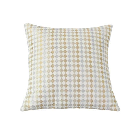 Modern 17 x 17 Inch Square Velvet White Pillow