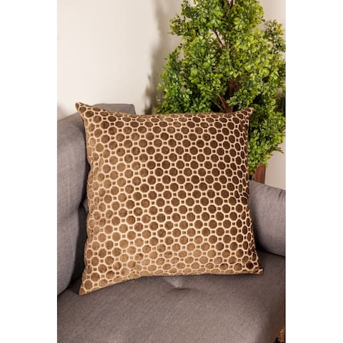 Modern 23 x 23 Inch Black Pillowcase with Geometric Patterns