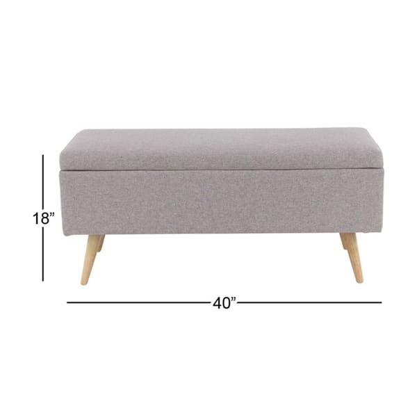 Admirable Shop Contemporary 18 X 40 Inch Gray Storage Bench Free Creativecarmelina Interior Chair Design Creativecarmelinacom
