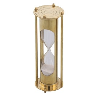 Classical Hourglass - 5 Minute Sand Timer Decor In Brass