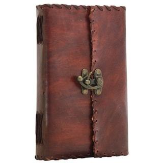 Handmade Antique Look Journals In Leather Benzara Brand