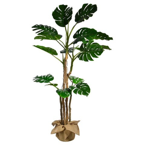 72 Inch High Monstera with Burlap Kit - 72""