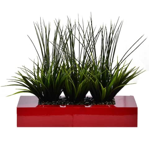 14 Inches High Decorative Grass in Pot