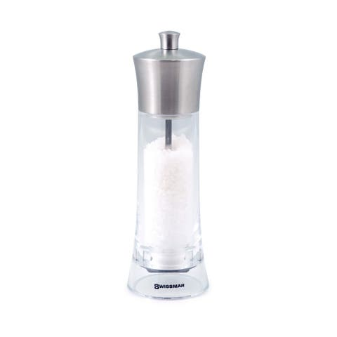 Swissmar Torre 8-inch Salt Mill Acrylic with Stainless Steel Top