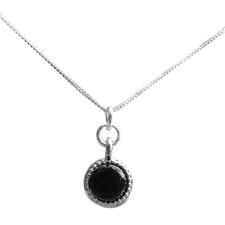 Handmade Recycled Repurposed Antique Black Depression Glass Glass Color Dot Necklace (United States)