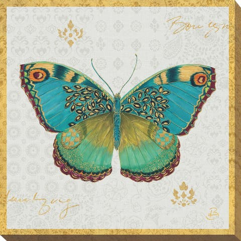 """Daphne Brissonnet """"Bohemian Wings Butterfly VA"""" Giclee Stretched Canvas Wall Art"""
