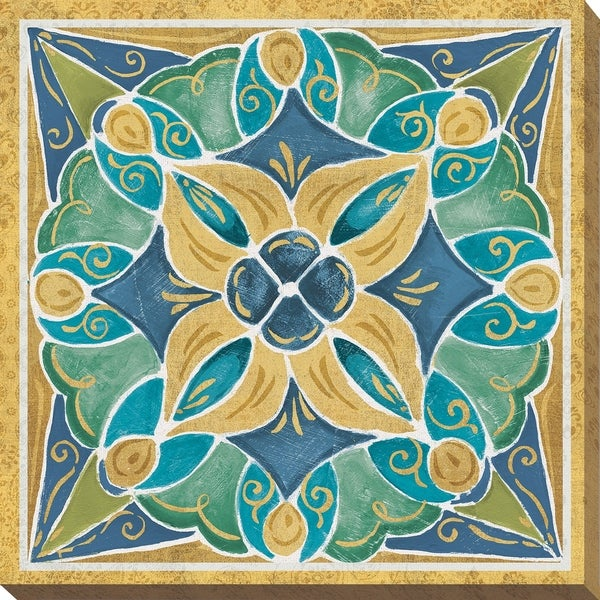 Shop Daphne Brissonnet Free Bird Mexican Tiles II Giclee Stretched - Cheap mexican tile sale