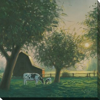 "James Wiens ""Farm Life IV"" Giclee Stretched Canvas Wall Art"