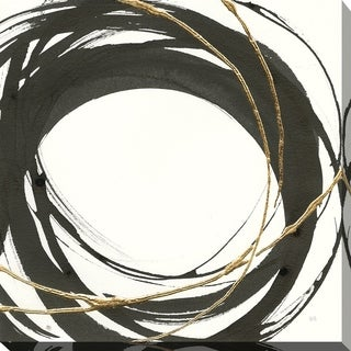 """Chris Paschke """"Gilded Enso III"""" Giclee Stretched Canvas Wall Art"""