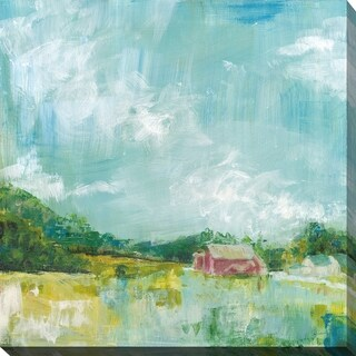 "Sue Schlabach ""Horizon Farm"" Giclee Stretched Canvas Wall Art"