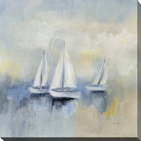"Silvia Vassileva ""Morning Sail II"" Giclee Stretched Canvas Wall Art"