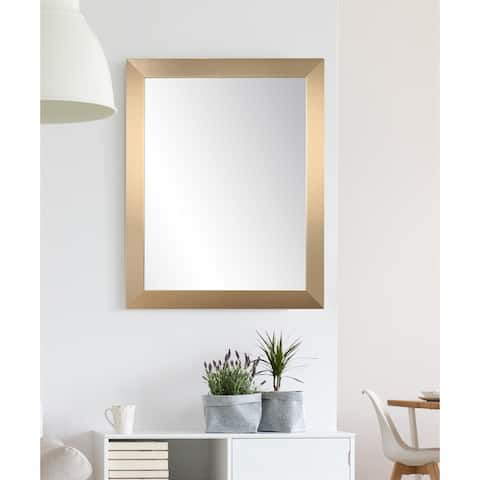 Contemporary Champagne Wall Mirror