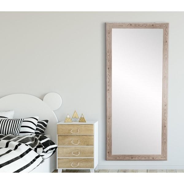Shop Farmhouse White Full Length Mirror White Washed