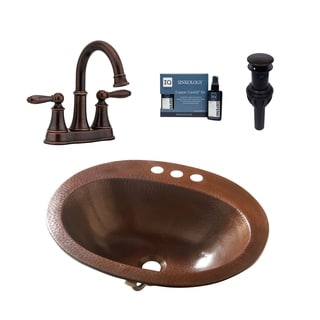 Sinkology Seville All-in-One Copper Sink and Courant Faucet Kit