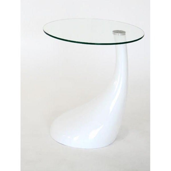 Vanessa White End Table