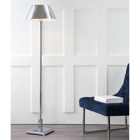 "Roxy 60"" Metal LED Floor Lamp, Chrome - 60"" H x 15.75"" W x 15.75"" D"