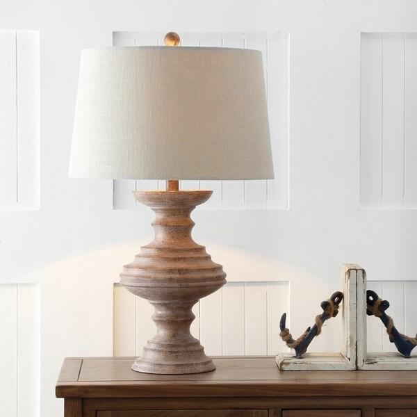 """Scarlett 26.5"""" Resin LED Table Lamp, Brown"""
