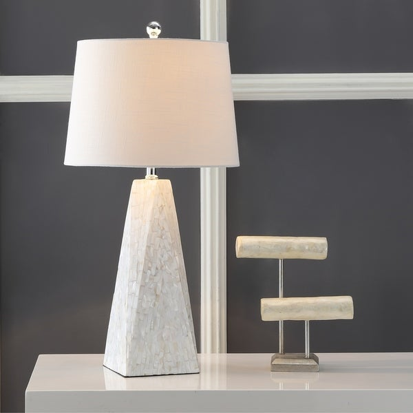 "Naeva 28"" Seashell LED Table Lamp, Pearl"