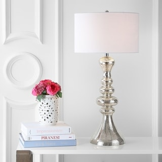 """Link to Madeline 35"""" Curved Glass LED Table Lamp, Mercury Glass  by JONATHAN  Y Similar Items in Table Lamps"""