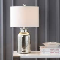 "Esmee 24.5"" Mercury Glass LED Table Lamp, Mercury Silver"