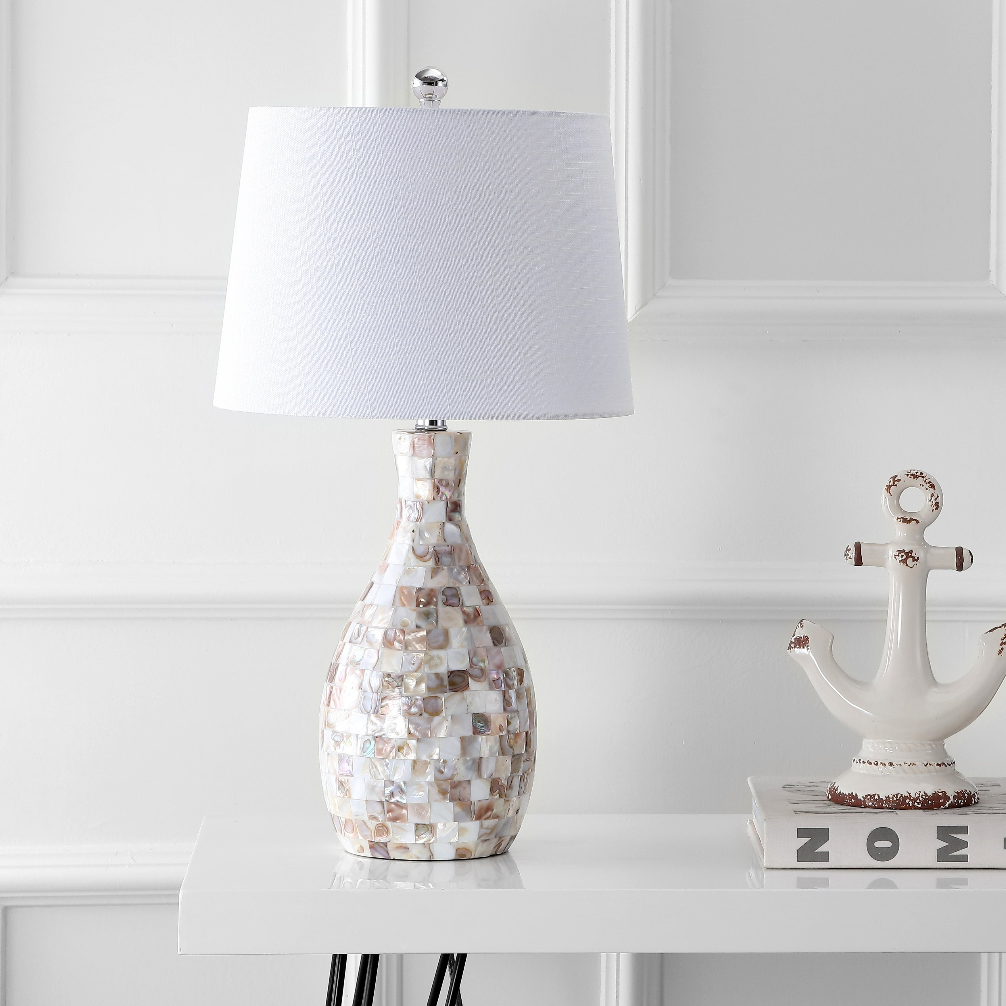 SEA  SHELL  ELECTRIC  LIGHTING  LAMP  SHADE  FINIAL NEW