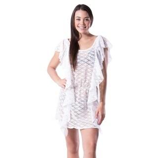 Women's Fashion Summer Crochet Swimsuit Cover Up Beach Dress